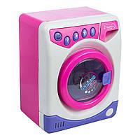 Игрушка стиральная машинка розовая со звуком