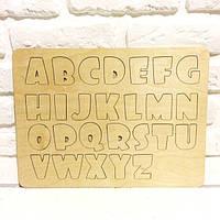Азбука на английском языке из дерева