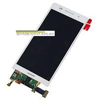 Модуль (сенсор + дисплей LCD) Huawei Ascend P6-U06 білий