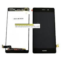Модуль (сенсор + дисплей) Huawei P8 Lite (ALE L21) чорний, фото 3