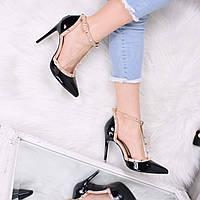 Туфли женские на шпильке Valentino черные 3509, женская обувь