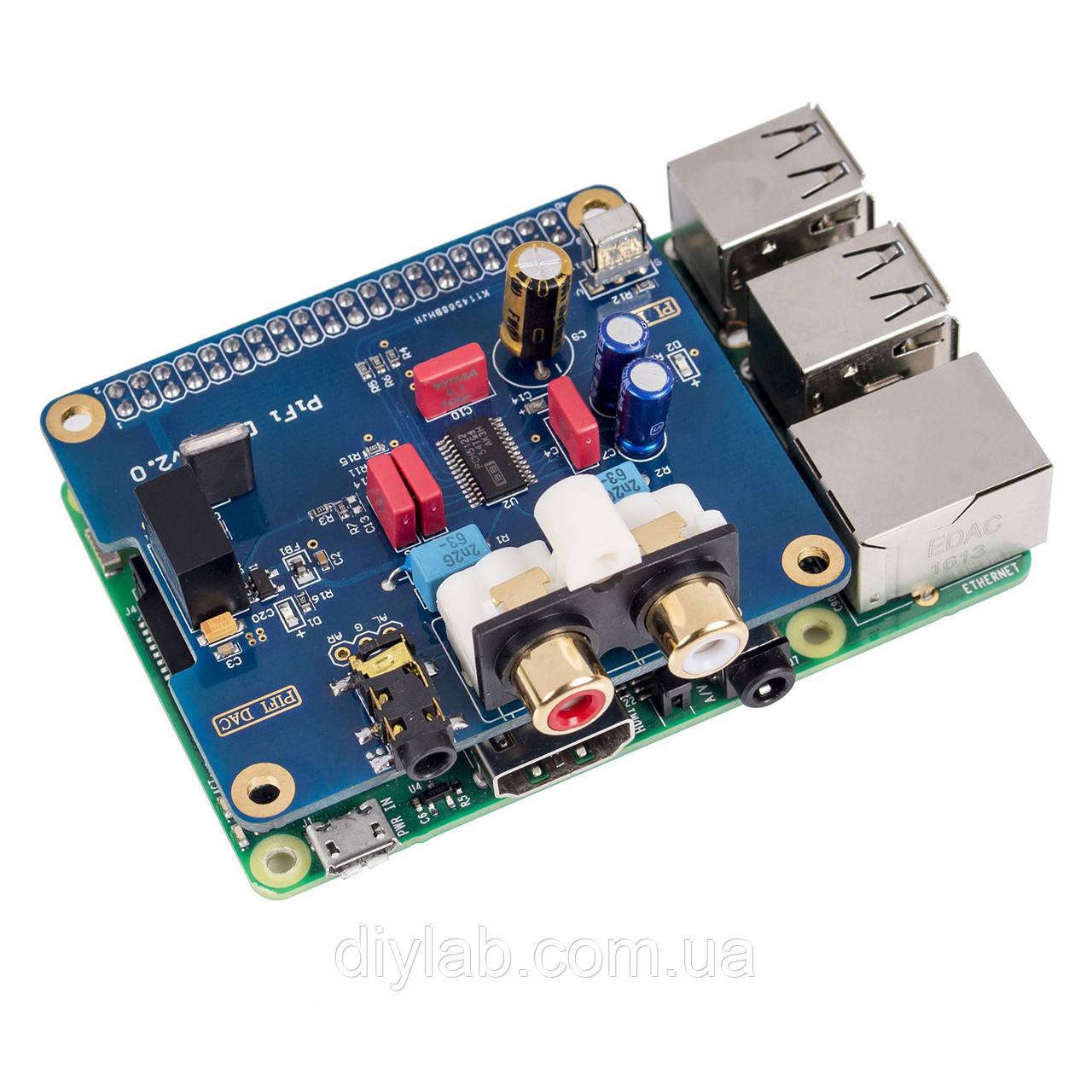 HI-FI DAC I2S PCM5122 звукова карта для Raspberry Pi (16-32bit, 384kHz), фото 1