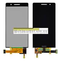 Модуль (сенсор + дисплей LCD) Huawei Ascend P6-U06 original чорний