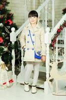 Пальто Дольче Крем для девочек. Сумка в комплекте