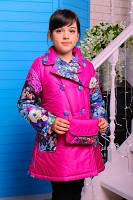 Пальто Дольче Малина для девочек. Сумка в комплекте