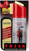 Набор Silver Premium Водоотталкивающий Спрей 200мл + губка для обуви бесцветная