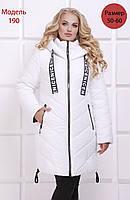 Женское зимнее пальто полуприлегающего силуэта, из плащевой водоотталкивающей ткани