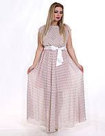 Вечернее платье из шифона с поясом бантом Цвета