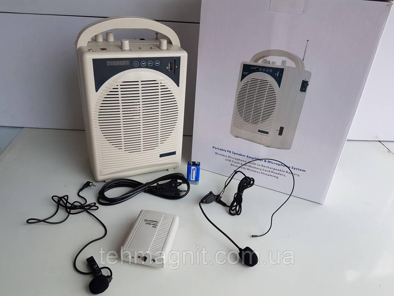 Профессиональный громкоговоритель с радиомикрофоном 3200-Bluetooth, портативный беспроводной усилитель