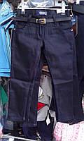 Детские школьные брюки на девочку 9-12 лет темно-синие Турция оптом