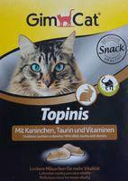 GimCat  Topinis витамины для кошек с кроликом 220г (180 шт)