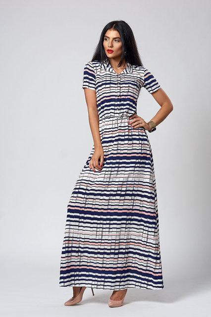 4e9c86ebf74 Летнее длинное платье в полоску - оптово - розничный интернет - магазин