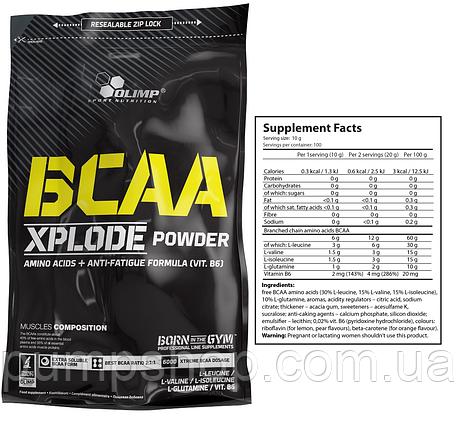 Аминокислоты BCAA Olimp Xplode powder 1000 г, фото 2