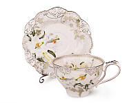 """Фарфоровый чайный набор на 6 персон """"Лилия"""" 250 мл Lefard 127-540"""