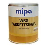 Лак паркетный водный полуматовый  Mipa Германия 1л