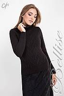 Вязанный женский свитер в черном цвете