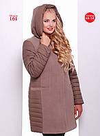 Женское демисезонное пальто полуприлегающего силуэта.  Разные цвета