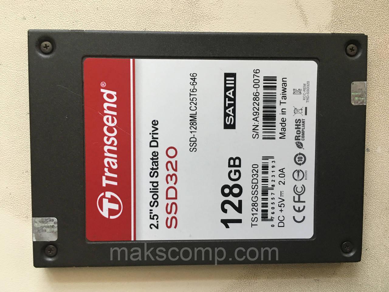 """SSD Transcend 128GB 2.5"""" SATAIII MLC (TS128GSSD320)"""