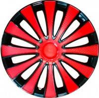 Колпаки колес Star GMK Red Black R15 (карбон)