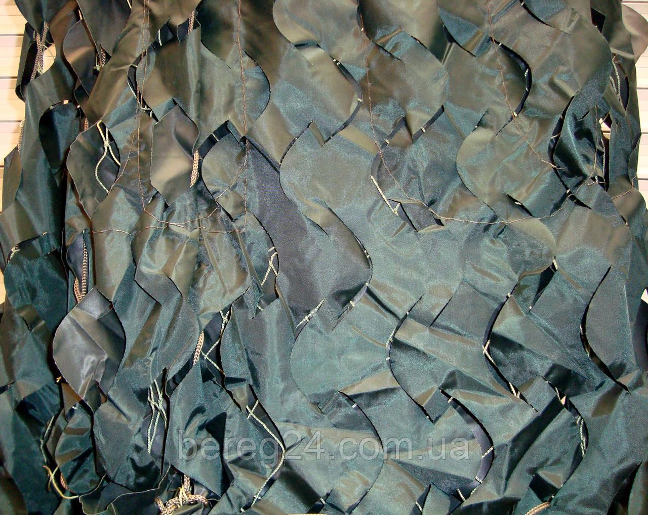 Маскировочная сетка, защитная, затеняющая 1,5х6 м Color, темно-зеленая