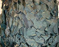 Маскувальна сітка, захисна, затіняюча 1,5х6 м Color, темно-зелена