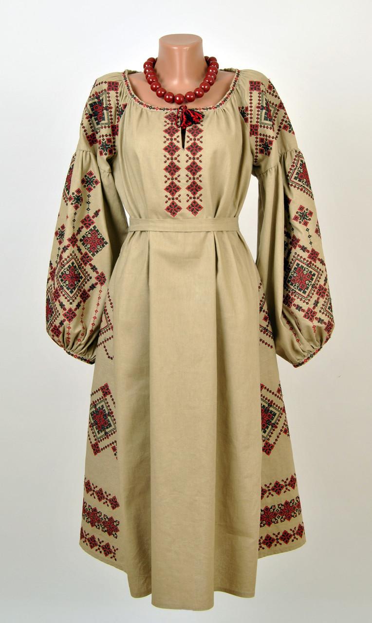 Вишите лляне плаття з машинною вишивкою  продажа 9454531b55b58