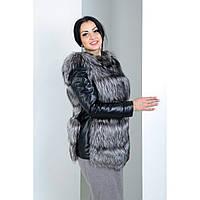 Меховая куртка (трансформер) из чернобурки
