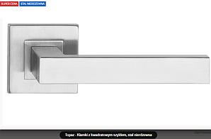 Дверная ручка  Topaz  нержавеющая сталь