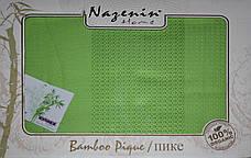 Бамбуковая простыня/покрывало Nazenin home Bamboo Pique , фото 2