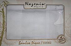 Бамбуковая простыня/покрывало Nazenin home Bamboo Pique , фото 3