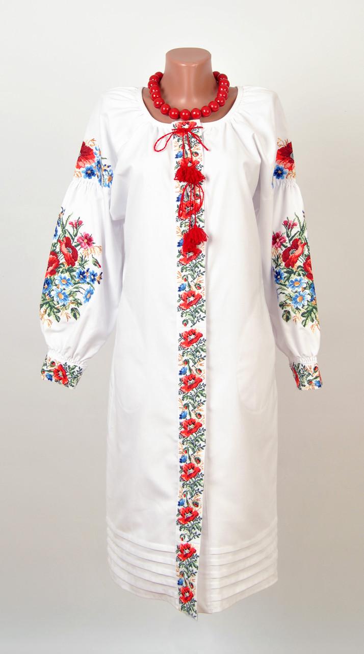 Вишите плаття на домотканому