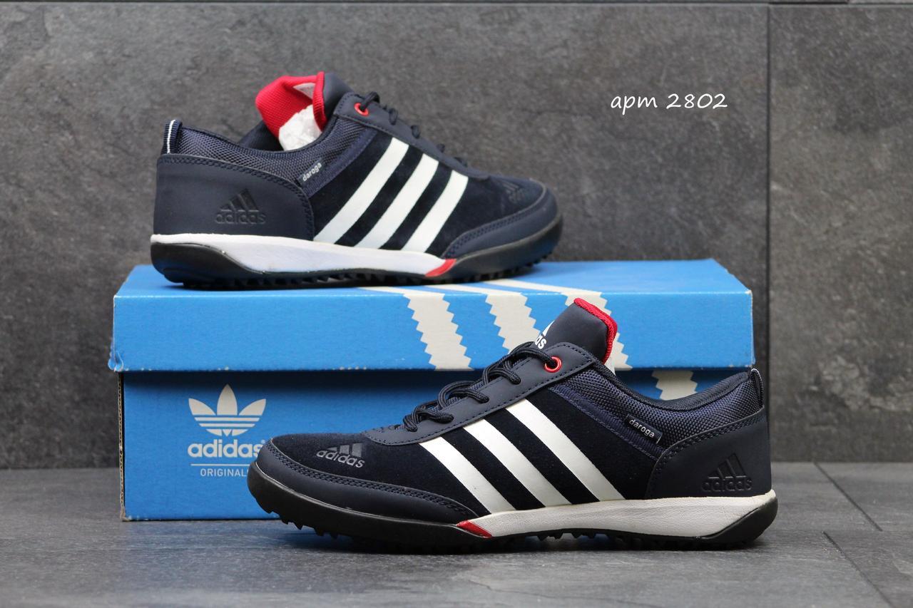 Кроссовки мужские Adidas Daroga темно синие с белым