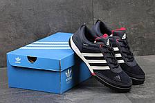 Кроссовки мужские Adidas Daroga темно синие с белым, фото 2
