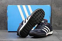 Кроссовки мужские Adidas Daroga темно синие с белым, фото 3