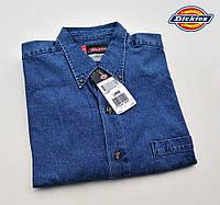 Мужская джинсовая рубашка Dickies®(США) (L) GL300 SNB/100% хлопок/Оригинал из США