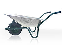 Тачка ТМ Detex строительная 1-колесная, куз. вц, 85л, рама зеленая в/п-200кг, колесо пневмо 3,5х8