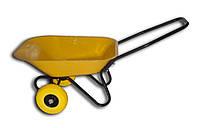 Тачка BudMonster строительная 2-колесная 75л, куз.желтый, рама черн., в/п-160кг, колесо поліур. 3,5х4