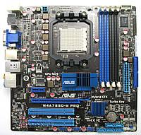 Плата AMD SAM3 AM2+ ASUS M4A785D-M PRO УЦЕНКА-ЗВУК! 125W Понимает ЛЮБЫЕ 2-6 ЯДЕРН ПРОЦЫ X2-X6до 1055T am3 Sam2