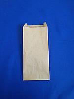 Бумажный пакет 100мм*70мм*230 мм бурый, фото 1