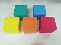 Детские кубики-пуфики поролоновые для игровых комнат  150х150х150мм
