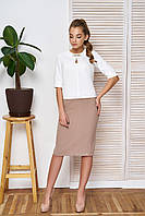 Женский костюм в офисном стиле - блузка и юбка-карандаш, фото 1