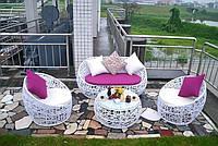 Купить садовый комплект из ротанга кресла диван и стол в Украине