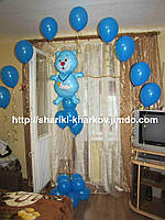 Оформление комнаты новорожденного для встречи с роддома воздушные шары №3 розовый,голубой