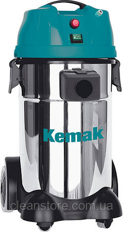 Пылесос-экстрактор моющий KEMAK KV30IEX, нерж. бак 30л., 1- турбина, фото 2