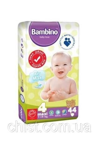 Bambino подгузники детские 4 maxi 7-18 kg 44 шт