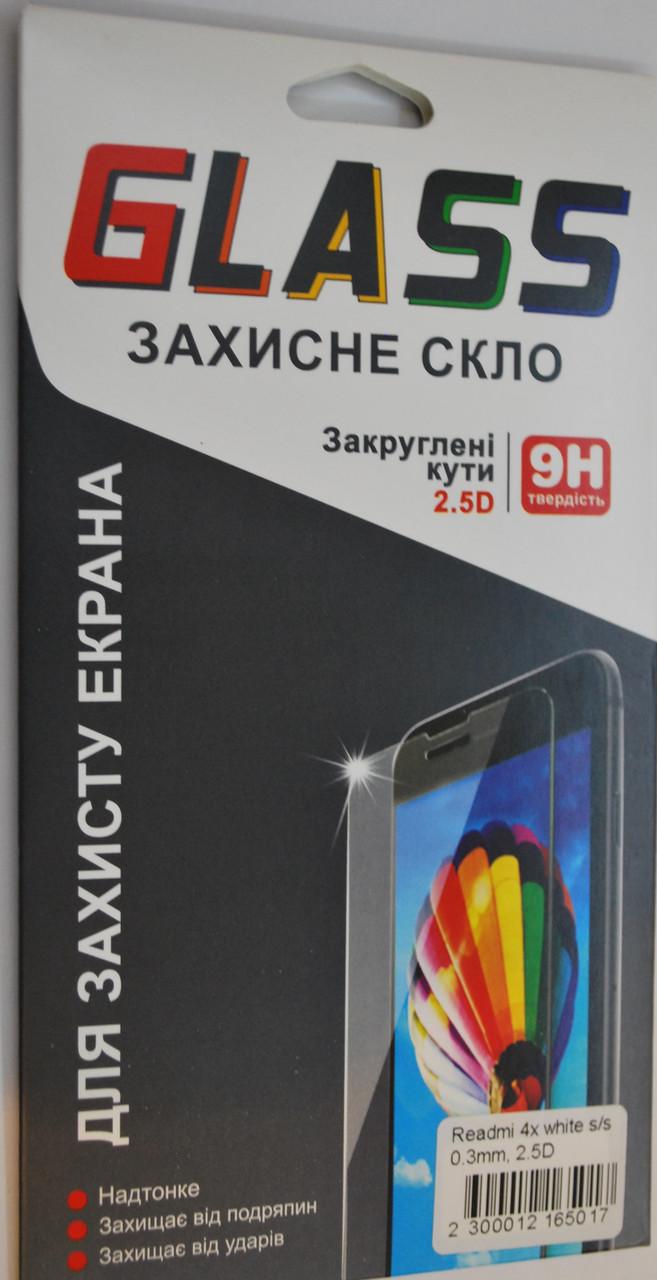 Защитное стекло с олеофобным и Silk Screen покрытием Tempered Glass для XIAOMI Redmi 4x белое, F2138
