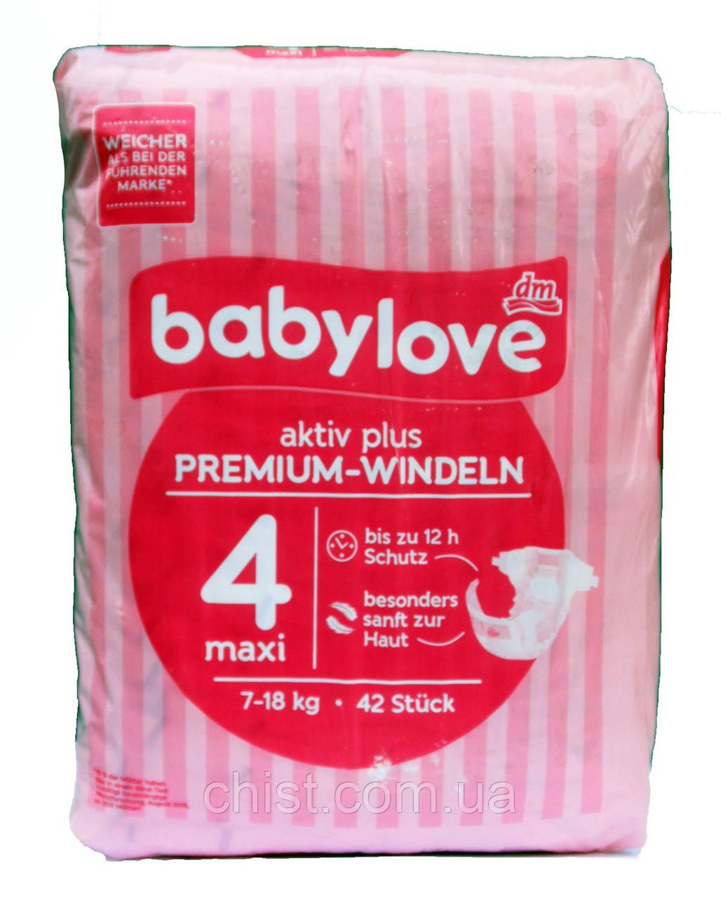 Babylove aktiv plus 4 maxi Памперсы 7-18 кг ( 42 шт)