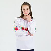 """Вышитая сорочка для девочек """"Букет"""" 7"""