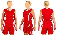 Форма баскетбольная женская Atlanta (полиэстер, р-р М(46-48), красный)