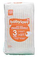 Babylove детские подгузники 3 midi (4-9 кг) 50 шт Германия